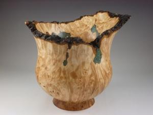 natural edge maple burl vase